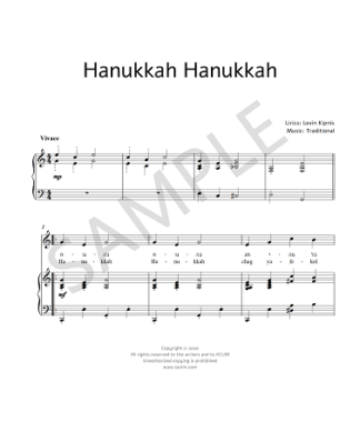 Hanukkah Hanukkah first bars